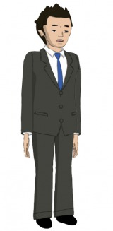 桃屋と脱力系CGアニメ「Peeping Life」のコラボレーション作品『ご縁ですよ!』の続編に登場する主人公・白飯くん