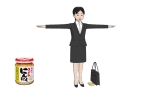 桃屋と脱力系CGアニメ「Peeping Life」のコラボレーション作品『ご縁ですよ!』の続編に登場するきざみにんにくちゃん