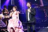 『Hello! Project COUNTDOWN PARTY 2013 〜 GOOD BYE & HELLO! 〜』に出演した(左から)安倍なつみ、堀内孝雄
