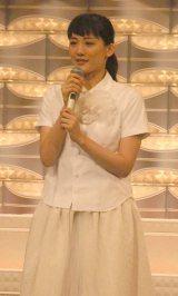東日本大震災復興支援ソング「花は咲く」を歌唱した綾瀬はるか (C)ORICON NewS inc.