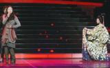 """藤あや子と""""秋田美人コラボ""""で『第64回NHK紅白歌合戦』に出演した壇蜜(写真はリハーサルの模様) (C)ORICON NewS inc."""