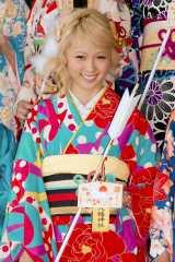 『2014年飛躍祈願 晴れ着初詣』に出席したE-girls・Ami (C)ORICON NewS inc.