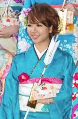 『2014年飛躍祈願 晴れ着初詣』に出席したE-girlsリーダー・Aya (C)ORICON NewS inc.