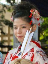 『2014年飛躍祈願 晴れ着初詣』に出席したE-girls・石井杏奈 (C)ORICON NewS inc.