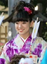 『2014年飛躍祈願 晴れ着初詣』に出席したE-girls・武部柚那 (C)ORICON NewS inc.
