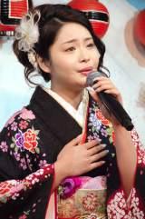 新曲「栞」の歌唱キャンペーンを開催した歌恋(かれん) (C)ORICON NewS inc.