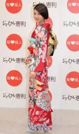 着物ブランド『ジョイフル恵利』新成人振り袖ファッションショーに登場した武井咲 (C)ORICON NewS inc.