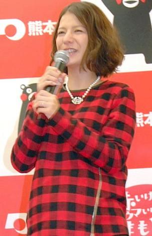 サムネイル 第1子を出産したスザンヌ(写真=11月イベント登場時・妊娠9ヶ月) (C)ORICON NewS inc.
