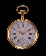 『パテック フィリップ展〜歴史の中のタイムピース〜』で展示している、チャイコフスキーの懐中時計(1877年)