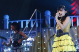 「HKT48九州7県ツアー〜可愛い子には旅をさせよ〜」鹿児島公演でステージデビューした山本茉央(C)AKS