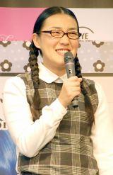 カラーコンタクト『LUNA』発売記念イベントに出席したたんぽぽ・白鳥久美子 (C)ORICON NewS inc.