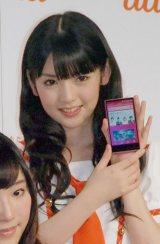 モーニング娘。'14・道重さゆみ=『au発表会 2014 Spring』 (C)ORICON NewS inc.