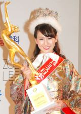 2014年ミス日本グランプリに選出された沼田萌花さん (C)ORICON NewS inc.