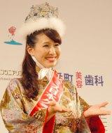 「おもてなし」をもじってあいさつ。2014年ミス日本グランプリに輝いた沼田萌花さん (C)ORICON NewS inc.