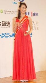 「ミス日本ネイチャー」に選出された長谷川舞衣さん=『第46回2014年度ミス日本グランプリ決定コンテスト』 (C)ORICON NewS inc.