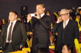 映画『ウルフ・オブ・ウォールストリート』ジャパンプレミアに出席した(左から)ジョナ・ヒル、レオナルド・ディカプリオ、マーティン・スコセッシ監督  (C)ORICON NewS inc.