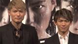 発売記念イベントに登場したSHOKICHI(左)とNAOTO(右) (C)ORICON NewS inc.