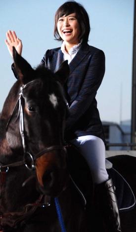 映画『銀の匙 Silver Spoon』完成披露イベントに乗馬で登場した広瀬アリス (C)ORICON NewS inc.