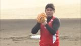 やり投げの村上幸史選手が145キロの剛速球を披露(C)TBS