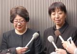 永井一郎さんの葬儀・告別式で「お別れの言葉」を読んだ(左から)加藤みどり、冨永みーな (C)ORICON NewS inc.