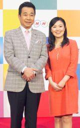 (左から)三宅裕司、小林千恵アナウンサー (C)ORICON NewS inc.