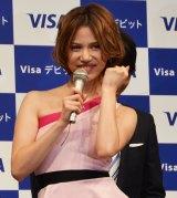 「Visaデビットキャンペーン」記者発表会に参加した水沢アリー (C)oricon ME inc.