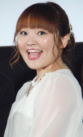 アニメ映画『ジョバンニの島』完成披露試写会イベントに出席した柳原可奈子