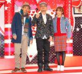 SPICY CHOCOLATEのベストアルバム発売記念イベントに出演したTEE、KATSUYUKI(SPICY CHOCOLATE)、宮城舞(左から) (C)ORICON NewS inc.