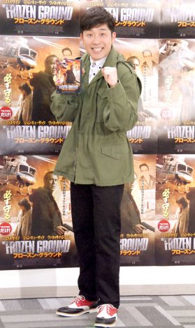 映画『フローズン・グラウンド』Blu-ray&DVD発売記念イベントに出席したあべこうじ (C)ORICON NewS inc.
