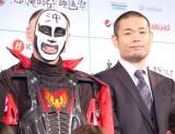 『第6回沖縄国際映画祭』イベントに出席した(左から)鉄拳、品川祐 (C)ORICON NewS inc.