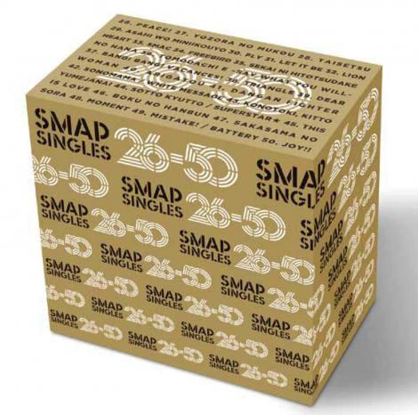 『SMAP 50 SINGLES 26-50』には26thシングル「Peace!」から50th「Joy!!」までを収録