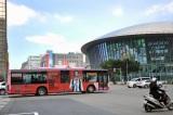 台北市内を福山雅治のラッピングバス100台が走り回る