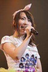 卒業を発表したNMB48・チームMキャプテンの島田玲奈 (C)NMB48