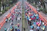 女性約4500人が参加した『渋谷・表参道Women's Run』の様子