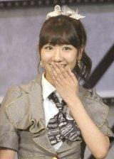AKB48とNHB48の兼任が発表された柏木由紀=『AKB48グループ大組閣祭り』 (写真:鈴木かずなり)