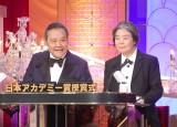 『第37回日本アカデミー賞』授賞式で司会を務めた(左から)西田敏行、樹木希林 (C)ORICON NewS inc.