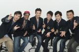 3月の『演歌男子。』より。(左から)松原健之、ジェロ、走裕介、蒼彦太、三山ひろし、北川大介