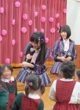 楽しく園児たちと交流=3rdシングル発表記念サプライズイベント (C)ORICON NewS inc.