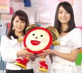 「めざまし」お天気キャスターを卒業する長野美郷(左)と新任の小野彩香 (C)ORICON NewS inc.