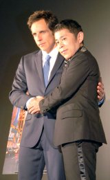 映画『LIFE!』の来日&ジャパン・プレミアイベントに出席にした(左から)ベン・スティラー、岡村隆史 (C)ORICON NewS inc.