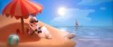 夏に憧れる雪だるま・オラフ(C)2014 Disney. All Rights Reserved.