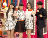 NHK音楽番組『MUSIC JAPAN』MCを務めるPerfumeとユースケ・サンタマリア(右) (C)ORICON NewS inc.
