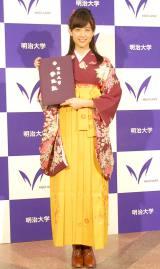 自らデザインした袴姿で卒業式に出席した山本美月 (C)ORICON NewS inc.