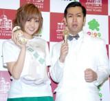 (左から)菊地亜美、ムーディ勝山 (C)ORICON NewS inc.