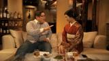 サントリー超ウコン WEBムービーに出演する壇蜜(右)とオスマン・サンコン