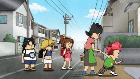 NHK・Eテレで毎週火曜放送の新作アニメ『超爆裂異次元メンコバトル ギガントシューター つかさ』(C)FHO/ギガントプロジェクト