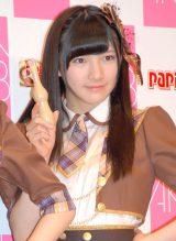 江崎グリコ『パピコ2014春キャンペーン』記者会見に出席したAKB48の岡田奈々 (C)ORICON NewS inc.