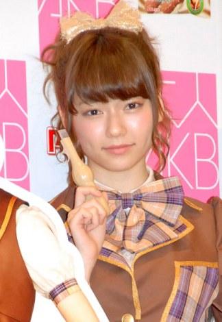 江崎グリコ『パピコ2014春キャンペーン』記者会見に出席したAKB48の島崎遥香 (C)ORICON NewS inc.