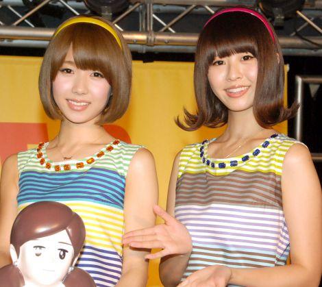 バニラビーンズ(左から)レナ、リサ=T−パレ&タワレコ×コップのフチ子『NO MUSIC NO FUCHICO?』キャンペーンイベント (C)ORICON NewS inc.