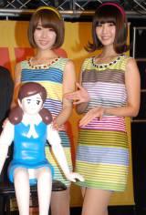 T−パレ&タワレコ×コップのフチ子『NO MUSIC NO FUCHICO?』キャンペーンイベントに出席したバニラビーンズ(左から)レナ、リサ (C)ORICON NewS inc.